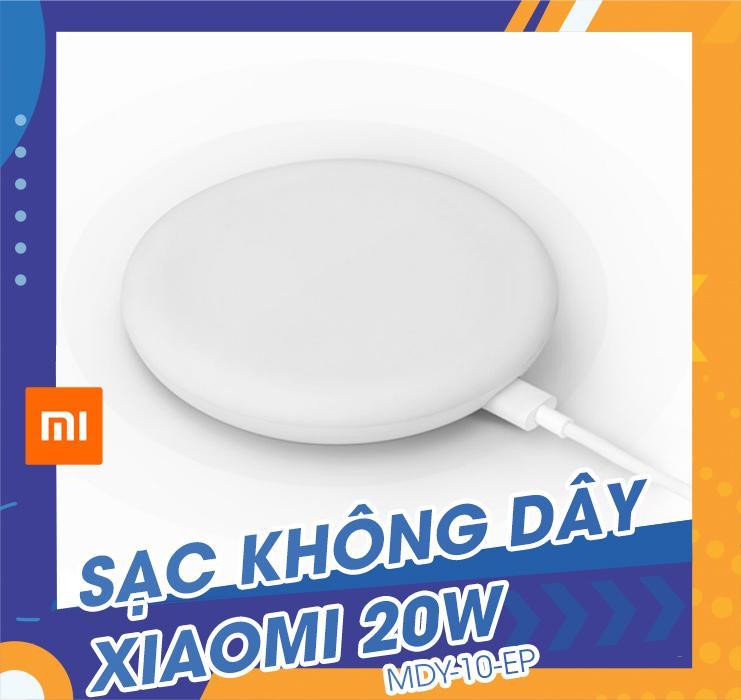 Sạc không dây Xiaomi 20W - MDY-10-EP màu trắng, chuẩn sạc Qi