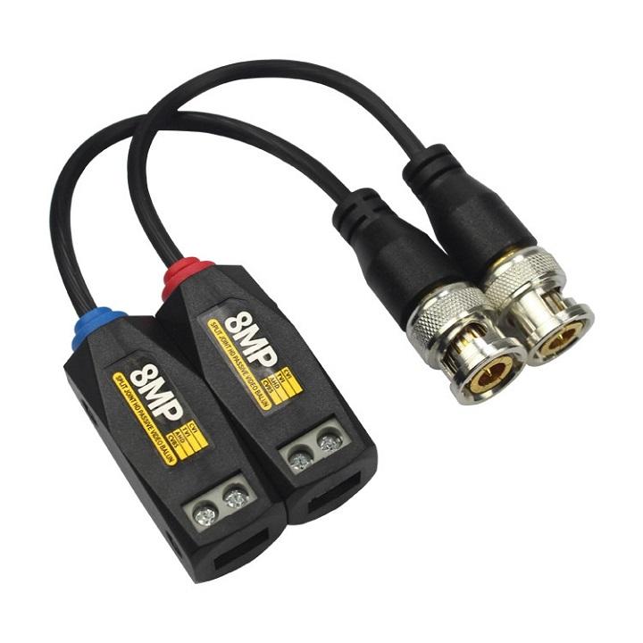 [Nhập ELAPR21 giảm 10% tối đa 200k đơn từ 99k]Video balun 8MP có mạch chống sét 2kv cho camera giám sát