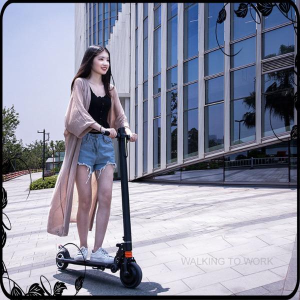 Phân phối Xe scooter điện S8 không yên, có thể gấp gọn thanh thiếu niên nam nữ đi làm đi học tiện lợi, 10km/1 lần sạc, tải trọng 100kg
