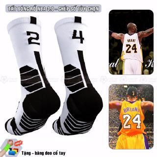 Tất Bóng Rổ NBA 3.0, Vớ Bóng Rổ Tùy Chọn Ghép Số Từ 00 Đến 99 Chuyên Nghiệp Cổ Lửng Phù Hợp Size Giày Từ 38 Đến 44 thumbnail