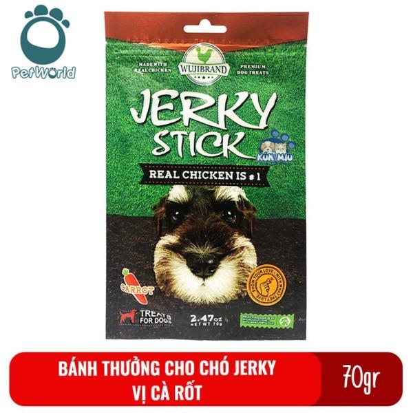 Bánh thưởng cho chó Jerky 70gr - Vị cà rốt