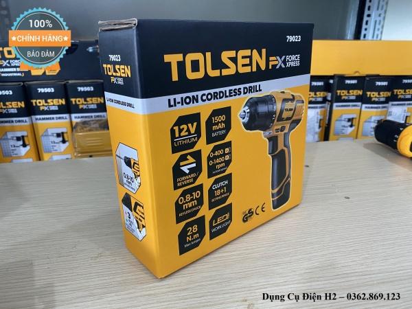 Máy khoan pin Tolsen 12V 79023