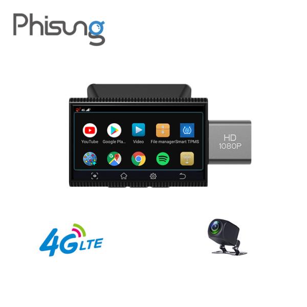 Camera hành trình android dùng cho ô tô nhãn hiệu Phisung K11, 4G, Wifi, màn hình 3 inch