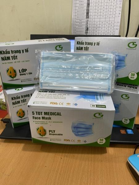 1 hộp 50 cái Khẩu trang y tế 4 lớp Năm Tốt cao cấp