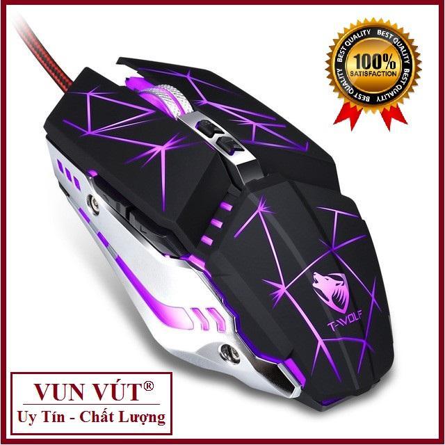 Giá CHUỘT GAMING cao cấp V7 LED USB, Mouse Game cực chất, cực nhạy, độ bền cao, LED sống động