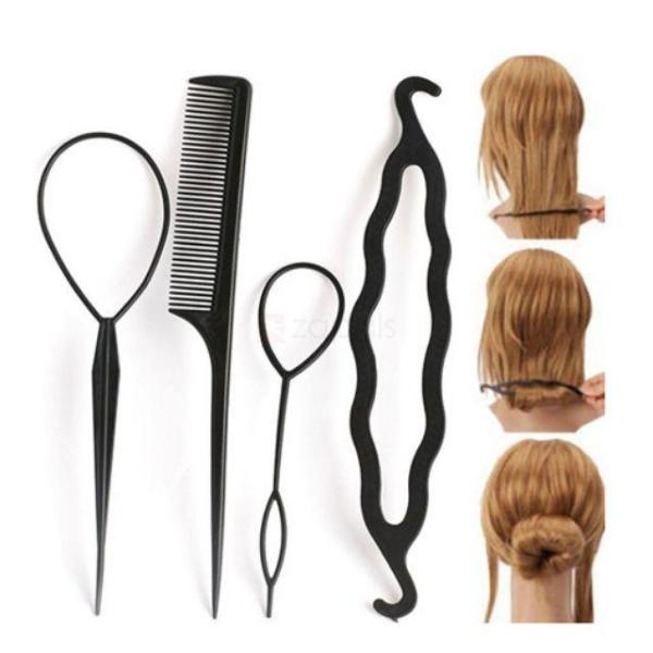 Bộ dụng cụ làm tóc 4 món nhập khẩu