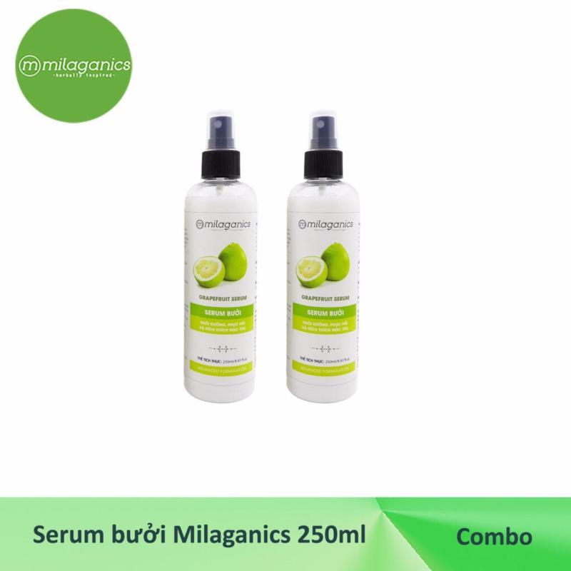 Combo 2 Serum Bưởi Kích Thích Mọc Tóc Milaganics (250ml/ chai)