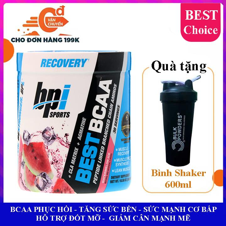 Best BCAA của BPI Sports hương dưa hấu hộp 30 lần dùng hỗ trợ phục hồi cơ bắp, tăng sức bền sức manh, đốt mỡ, giảm cân, giảm mỡ bụng mạnh mẽ cho người tập gym và chơi thể thao chính hãng