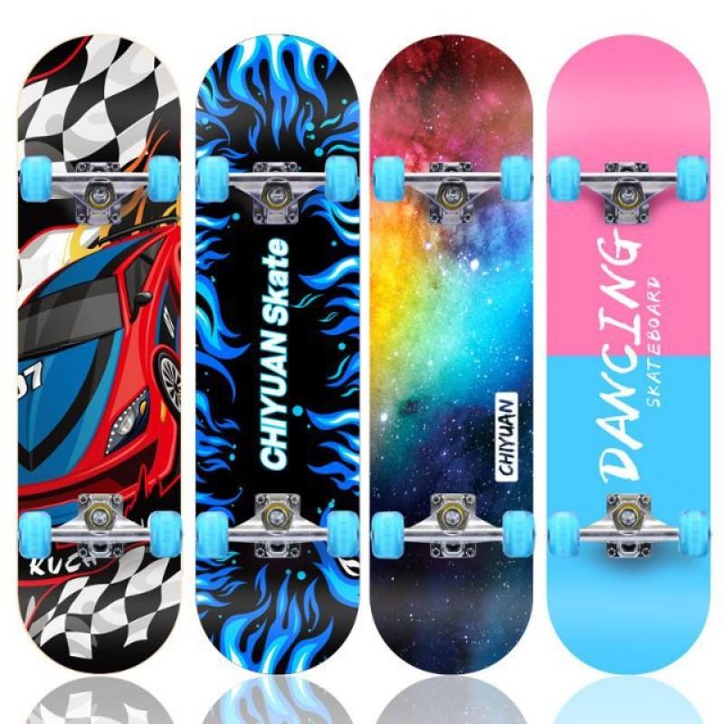 Giá bán Ván Trượt Skateboard, Ván Trượt Thể Thao Đạt Chuẩn Thi Đấu, Ván Trượt Gỗ Phong Ép 8 Lớp Mặt Nhám Chịu Lực Tốt,  Siêu Bền
