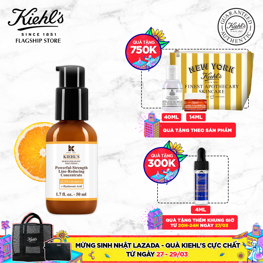 Dưỡng Chất (Serum) Vitamin C Powerful-Strength Line-Reducing Concentrate Kiehl's 50ml