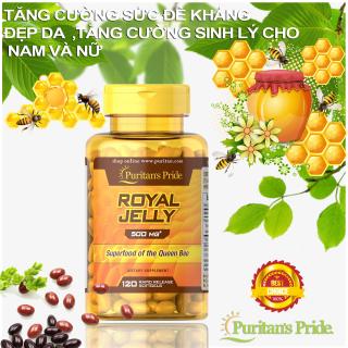 Sữa ong chúa giúp đẹp da, tăng cường sức khỏe, hỗ trợ sinh sản Puritan s Pride Royal Jelly 500mg 120 viên thumbnail