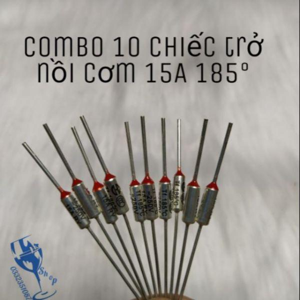 Bảng giá Combo 10 chiếc cầu chì - trở nồi cơm điên 250v 15A 185°c