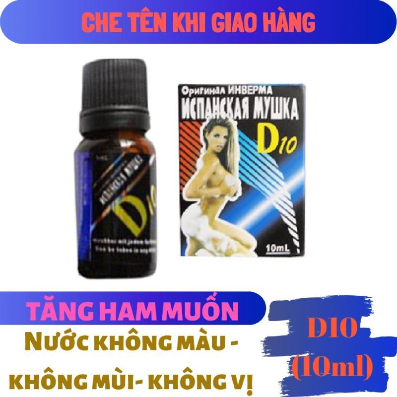 Nước không màu không mùi không vị_tình yêu tạo tăng ham muốn_kích dục nữ D10 (10ml) (Che tên khi giao hàng) cao cấp