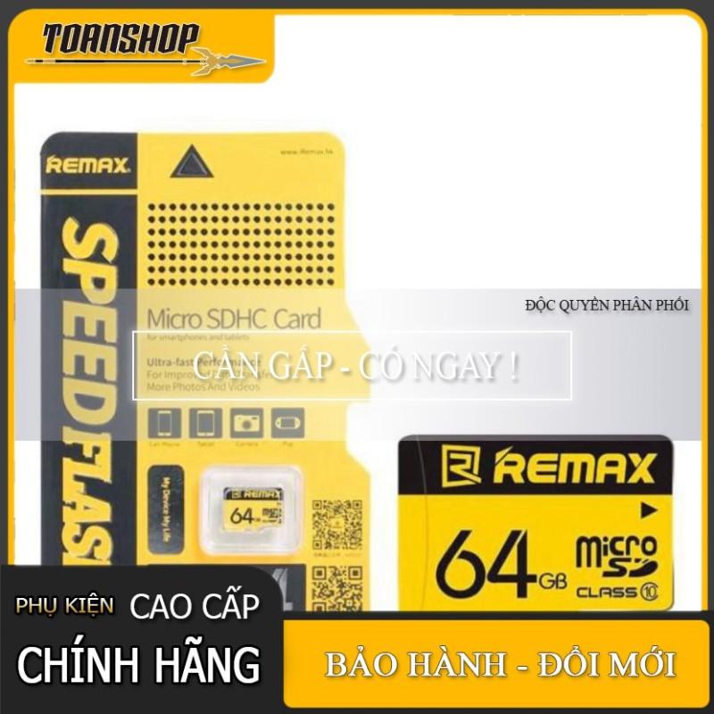 Thẻ Nhớ Micro Sd Remax 64Gb Tốc Độ Class 10- Hàng