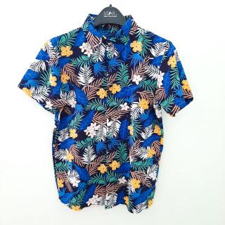 Áo sơ mi hawaii đi biển áo hoa lá cây - ALC41 thumbnail