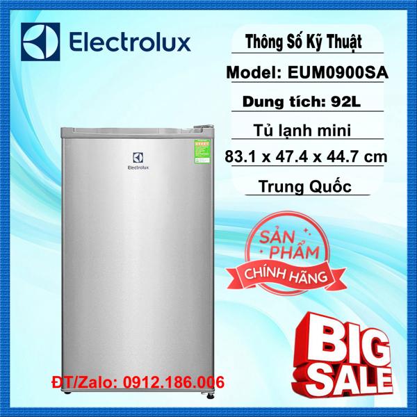 Tủ lạnh mini Electrolux EUM0900SA 92L - Hàng chính hãng