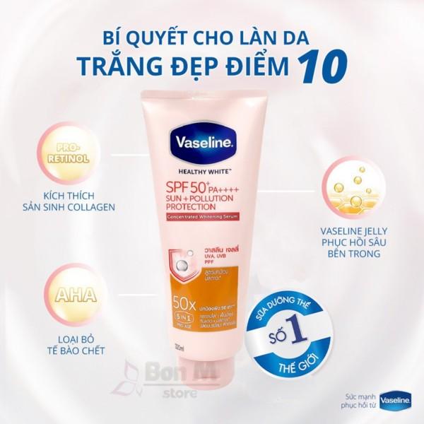 SALE-Dưỡng thể trắng da,chống nắng Vaseline 50x SPF 50+ Thái Lan-DATE 2023