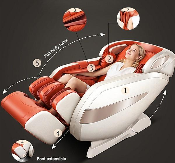 Ghế Massage Sakura 5D Pro, Ghế massage nhập khẩu chính hãng