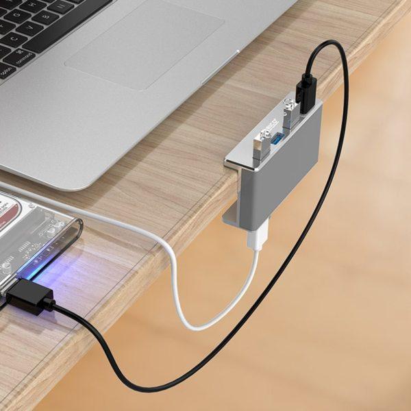 Bảng giá Bộ chia Hub 4 cổng USB 3.0 Orico MH4PU vỏ nhôm - Bảo hành 12 tháng Phong Vũ