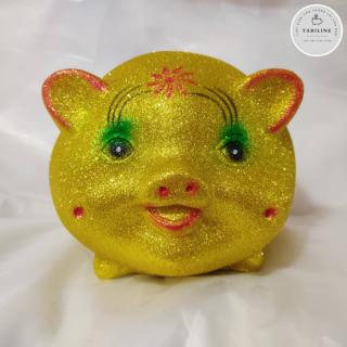 Lợn đất tiết kiệm đựng tiền size NHỠ VIP KIM TUYẾN VÀNG cute đẹp giá rẻ TABILINE LD11 6