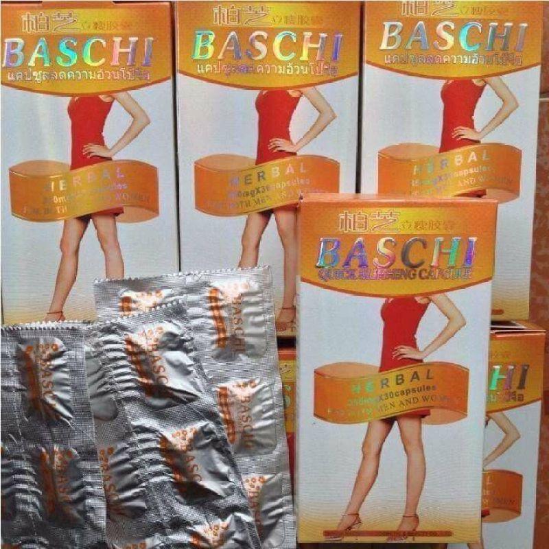 giảm cân Baschi cam dạng vỉ 30 viên hàngThái