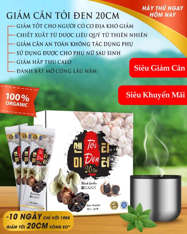 Trà Giảm Cân Cấp Tốc Tỏi Đen - 7 ký trong 30 ngày, Siêu Giảm - Siêu Sale 390k/30Gói giá rẻ