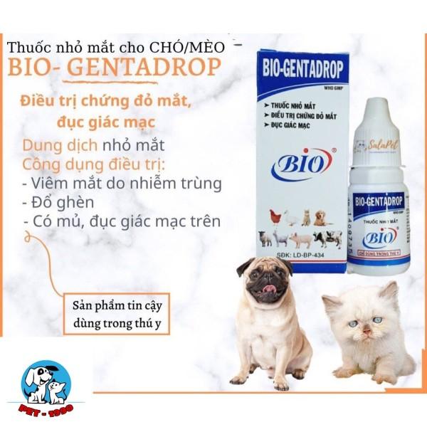 Dung Dịch Nhỏ Mắt Bio GentaDrop 10ml Cho Chó Mèo
