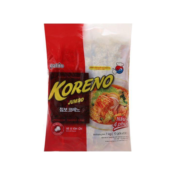 Mã Ưu Đãi Khi Mua Túi 10 Gói Mì Koreno Jumbo Kim Chi 1kg