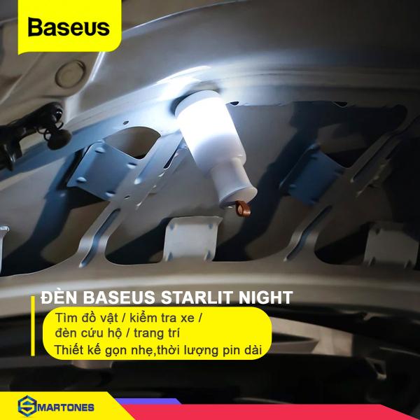 Đèn đa năng Baseus Starlit Night , đèn khẩn cấp ban đêm, nhiều chế độ màu sắc