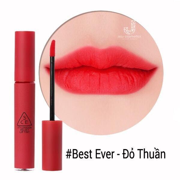 Son Kem Lì 3ce Velvet Lip Tint màu Best Ever - Đỏ thuần giá rẻ