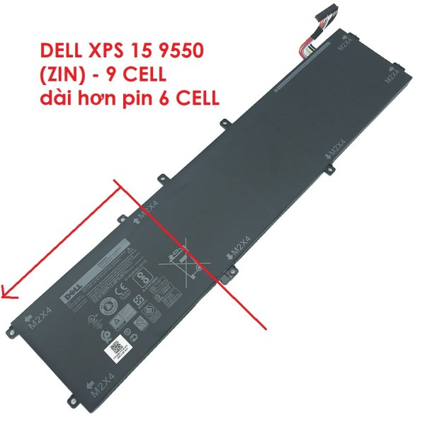Bảng giá Pin Laptop DELL XPS 15 9550 (ZIN) -  9 CELL - XPS 15 9550 9560 11.4V 97Wh 6GTPY 5XJ28, Precision 5110 M5520 H5H20 5XJ28 5D91C Phong Vũ
