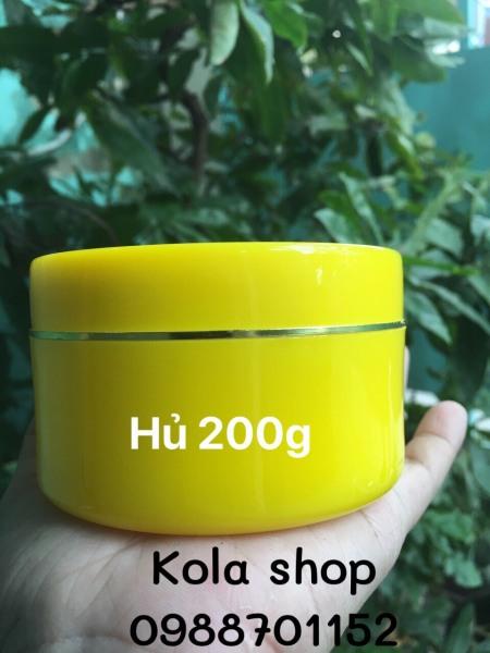 Combo 10 hủ đựng kem body 200g (màu vàng) giá rẻ
