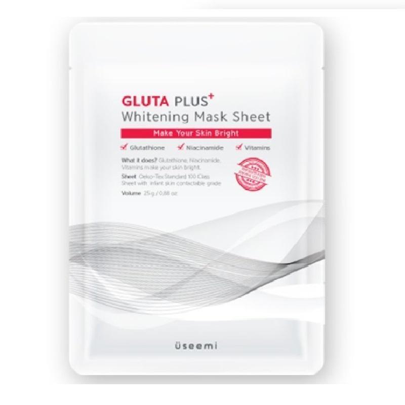 Mặt nạ dưỡng trắng USEEMI Gluta Plus Whitening Mask, mặt nạ giúp làm trắng da USEEMI, mặt nạ USEEMI chính hãng Hàn Quốc nhập khẩu