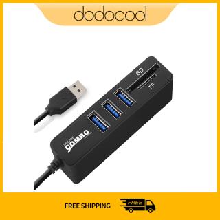 Dodocool JDL-HSD8 Kết Hợp USB Hub Bộ Chia 3 6 Cổng Tùy Chọn Đầu Đọc Thẻ SD TF Mini 2 Trong 1 Tốc Độ Cao USB 2.0 Dành Cho Máy Tính Xách Tay thumbnail