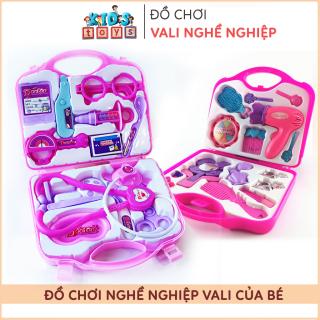 Đồ chơi trẻ em, Vali đồ chơi bác sĩ, vali đồ chơi trang điểm cho bé, chất liệu nhựa ABS an toàn với trẻ thumbnail