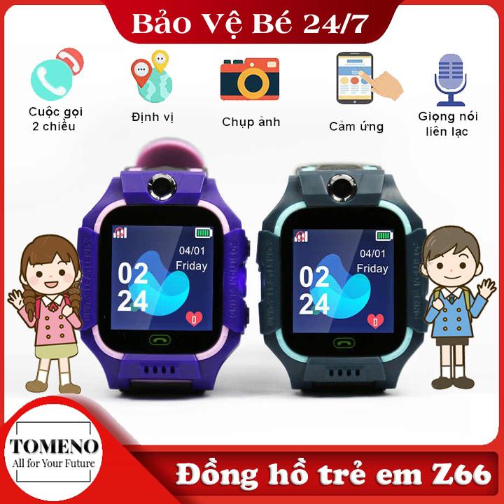 Đồng hồ thông minh trẻ em gắn sim định vị LPS Z66, màn hình cảm ứng , nghe gọi 2 chiều , Gọi SOS nhanh chóng , Tích Hợp Camera Chụp hình gửi về điện thoại của phụ huynh
