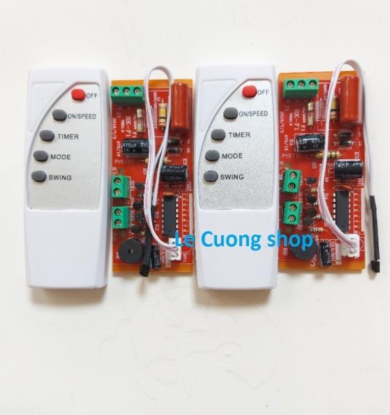 (mạch đỏ) Combo 2 bộ Mạch điều khiển từ xa cho quạt -Bộ mạch và điều khiển từ xa dành cho quạt bàn, quạt treo tường, quạt cây...biến quạt thường thành quạt điều khiển từ xa.