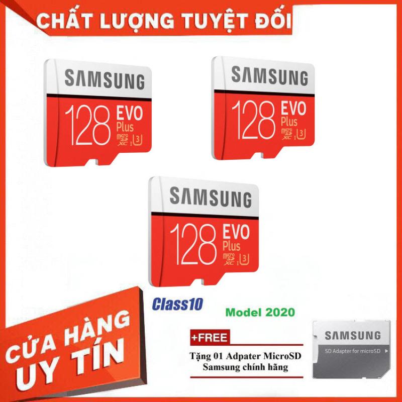 [Giá Tại Kho] Combo 3 Thẻ nhớ MicroSD Samsung EVO Plus 4K 128GB 100MB/s 256GB Box Anh 2020 - Hàng Chính Hãng