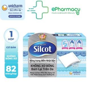 Bông tẩy trang Silcot Nhật Bản Hộp 82 miếng - Bông Silcot Unicharm ePharmacy thumbnail