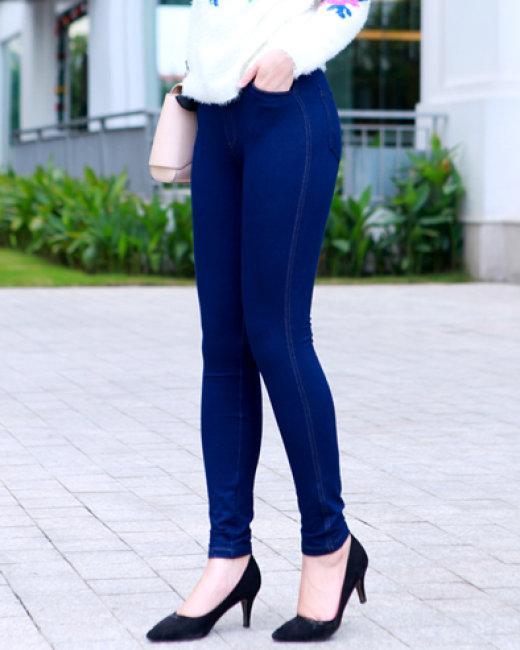 quần legging  nữ giả Jeans SANG CHẢNH