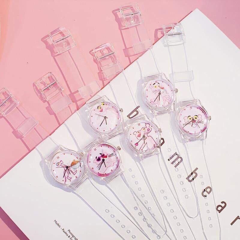 Nơi bán (ngẫu nhiên) Đồng hồ thời trang nữ Unisex dây nhựa trong siêu cá tính
