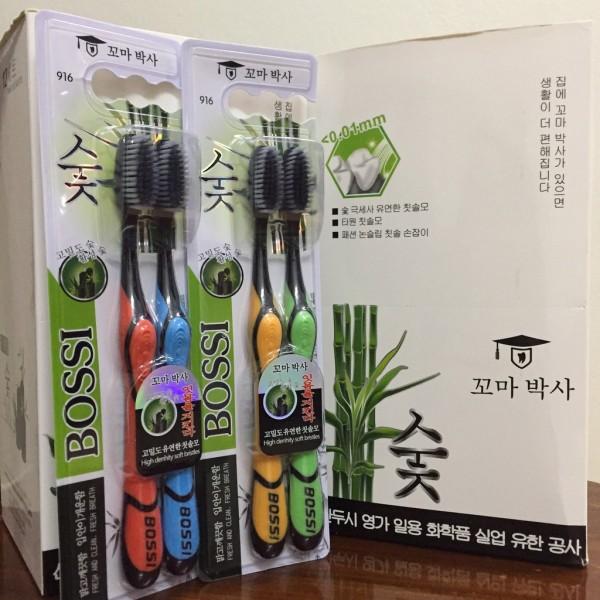 Hộp 30 Bàn Chải Răng Than Tre Hoạt Tính Bossi Hàn Quốc - Cấu Tạo Bàn Chải Thon Gọn Giúp Đánh Răng Dễ Dàng.