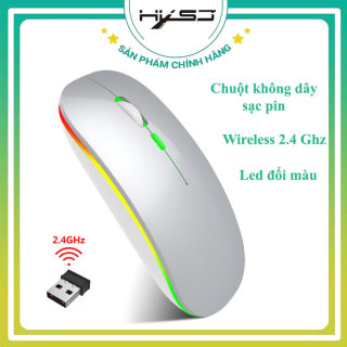 Chuột không dây sạc pin HXSJ M402 thiết kế nhỏ gọn DPI 1600 có đèn led, chất liệu ABS cao cấp,thời trang, khoảng cách tín hiệu 10m kết nối nhanh nhạy- HÀNG CHÍNH HÃNG BẢO HÀNH 12 THÁNG thumbnail