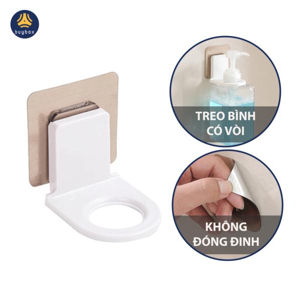 Móc dán tường treo bình rửa tay, sữa tắm, dầu gội có vòi - buybox - BBPK150