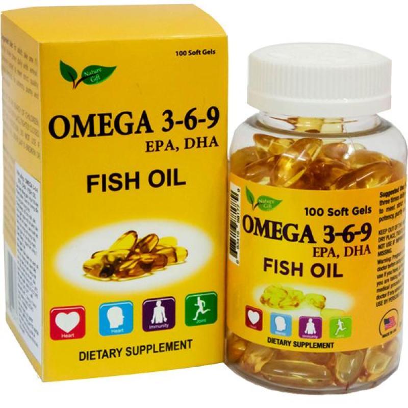 Nature Gift_3 Hộp Dầu cá hồi Omega 369 (100v/hộp) cao cấp