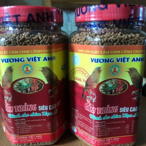 Combo 2 lọ cám trứng siêu cao cấp Vương Việt Anh 300g cho chim Họa Mi