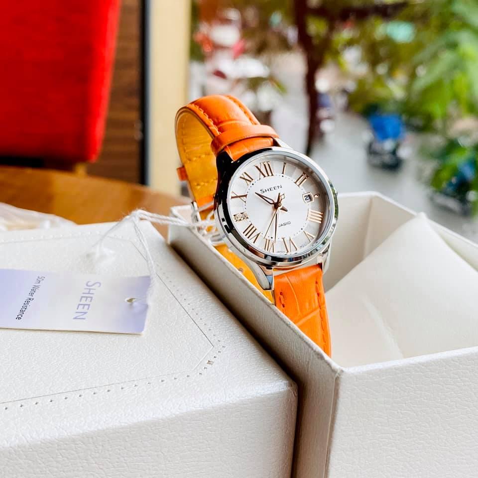 [HCM]Đồng hồ nữ cao cấp Casio Sheen She 4050L-7A Bảo hành 1 năm - Pin trọn đời Hyma watch