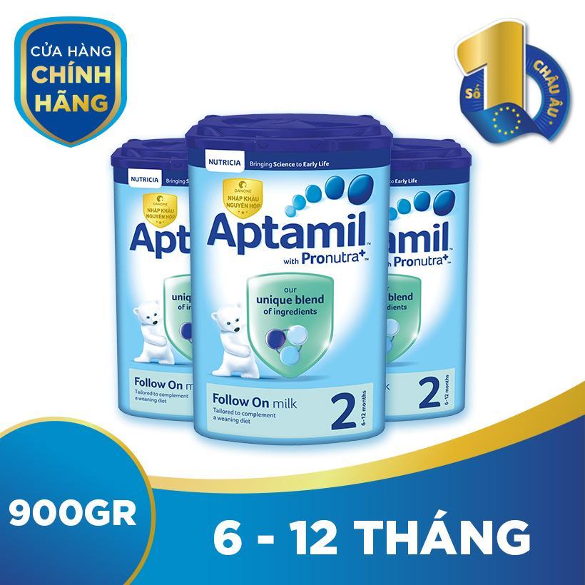 Bộ 3 hộp sữa bột công thức Aptamil số 2...