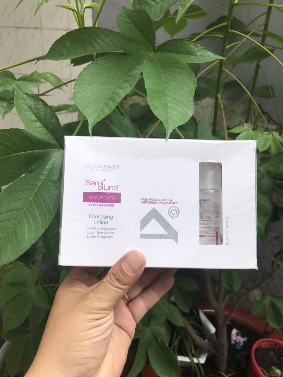 Huyết thanh chống rụng tóc Alfaparf Milano Semi Di Lino Scalp Care Energizing Lotion 12x10ml
