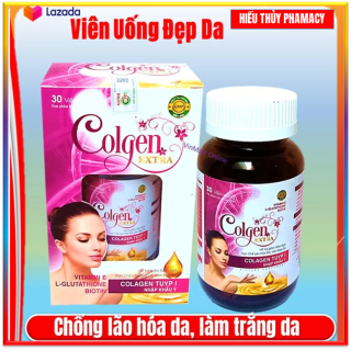 Viên Uống Trắng Da Toàn Thân Collagen gold - Collagen Peptide Nhập Khẩu từ Nhật Bản, Giúp Hạn Chế Lão Hóa Da, Trắng Da, Sáng Mịn Da, Bổ Sung Các Vitamin A, C, E Thiết Yếu Cho Cơ Thể (hộp 60 Viên) thumbnail